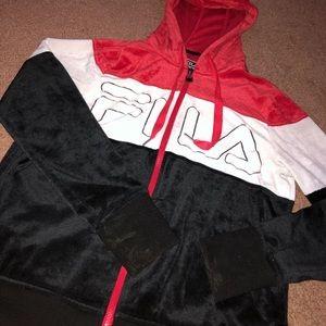 Tri color FILA hoodie